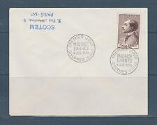 enveloppe 1er jour  célébrité  Maurice Barrés  1956