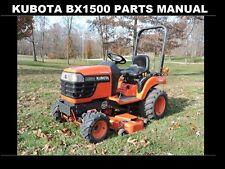 Kubota Bx 1500 Bx 1500 D Parts Manual -250pg of Bx1500D Tractor Service & Repair