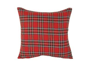 """Royal Stewart Cushion/Scatter Cover Filled/Unfilled 18"""" 20"""" 22"""" 24"""""""