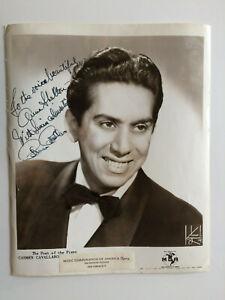 Carmen Cavallaro - Pianist - 'The Poet of the Piano' - Original HS Autograph