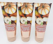MARSHMALLOW PUMPKIN LATTE BATH & BODY WORKS SHEA BODY CREAM SET OF 3 Autumn