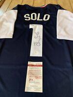 Hope Solo Autographed/Signed Jersey JSA COA Team USA