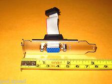 EVGA MSI XFX 12Pin Low Profile Half Height Length VGA CRT DSub Extension Bracket