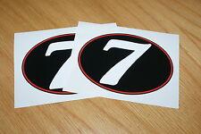 Número 7 Retro Estilo Carrera números (par)