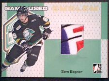 SAM GAGNER 06/07 AUTHENTIC PIECE OF A GAME-USED EMBLEM  /10 GOLD  SP