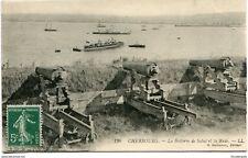 CPA-Carte postale-France- Cherbourg - La Batterie de Salut et la Rade (CP1580)