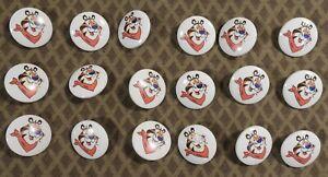 """18 Vtg 1990s JHB International Plastic BUTTONS Kelloggs Cereal Tony Tiger 7/8"""""""