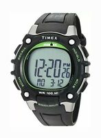 "Timex TW5M03400, Men's ""Ironman"" 100-Lap Watch Alarms Indiglo Chronograph"