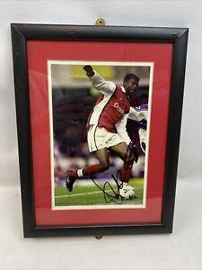 Nwankwo Kanu Signed Arsenal Photo With Frame - Signature with COA