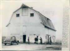 1944 Press Photo Barn of Trappist Monks Rockdale County Georgia
