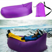 Air Sofa Inflatable Lounger Bed Lazy Chair Outdoor Sleeping Camping Beach