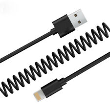 Flexible Elastic Stretch Spiral Cable USB Charger Data Sync Charging For iPhone