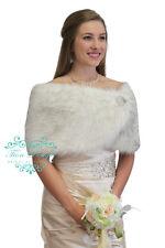 Black and White Faux Fur Wedding Wrap