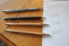 4 CROSS writing instruments Ball point Pens &1/20 14k gold filled pencil classic