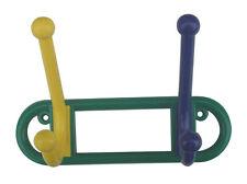 1 X Doble Sombrero & Perchero Resina Funky Puerta de varios colores o colgador de pared. (580)