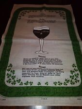 Irish Coffee Tea Towel Irish Linen Tara Made in Ireland New