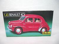 HELLER 80174 RENAULT 4CV 1:43 Maquette de voiture ancienne à monter Made France