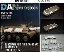 SANDBAGS FOR THE BTR-80 — 15 SANDBAGS 1/35 DAN MODELS 35301