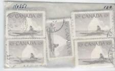 Canada 1955 10¢ Eskimo Hunter #351 - 100 Used copies, F/VF