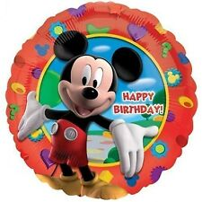 MICKEY MOUSE CLUBHOUSE HAPPY BIRTHDAY HELIUM QUALITY ROUND FOIL BALLOON 45CM
