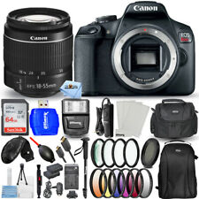 Canon EOS Rebel T7 with 18-55mm III Lens + 64GB + EXT BATT + Flash Bundle
