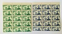 1944 New Zealand Health 2 Blocks of 15 Stamps 1d & 2d Girl Guides