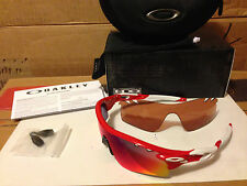 Lunettes Vélo Oakley Radarlock Path Vented Infrared positive Rouge Iridium 2015