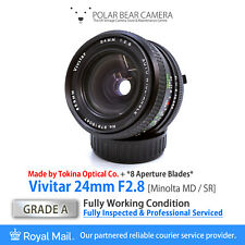 ⭐SERVICED⭐ Vivitar TOKINA 24mm F2.8 Wide-Angle Prime Minolta SR/MD Fit[GRADE A]