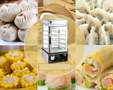 Commerical Bun Steamer Electric Food Display Automatic Warmer Cooker Kitchen