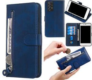 Galaxy A52 Pu Leather Wallet Case Cowhide Finish Card Zipper