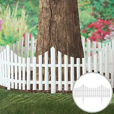More details for 4pcs smart garden white picket fence path border lawn plant beds picket edging