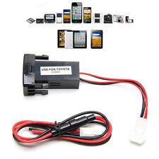 Universal Dual 2 Hafen USB Auto Ladegerät In Car Socket Adapter 12V Toyota Pop