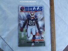 Oct 2004 Buffalo Bills Game Day Program vs Miami Dolphins Eric Moulds Cover NFL