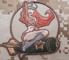 WWII US ARMY ISAF B52 AIR PINUP GIRL MORALE DESERT ARID VELCRO® BRAND PATCH