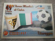 CARTOLINA VIAREGGIO 49 coppa CARNEVALE 1997 calcio football postcard Cup vintage