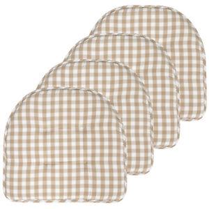 Checkered Memory Foam U-Shape Non-Slip Chair Cushion 2, 4, 6 or 12 Pack