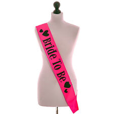 1x Sposa da scrivere Satin Sash Decor Hens Night Addio al nubilato WQI