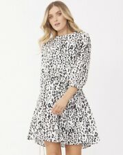 Decjuba Black & White Leopard Print Womens Dress Size 10 As New