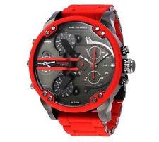 SIGNOR Da uomo DZ7370 Diesel Daddy 2.0 Rosso Bracciale in Acciaio Orologio Cronografo da uomo