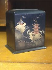 Vintage Lacquerware Japanese Wooden Card Holder