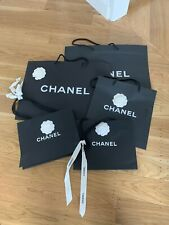 Five (5) Authentic Chanel shopping gift bag with Camellia Flowers