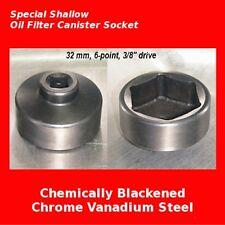 32mm Metric Oil Filter Cap Socket Low Profile 32 mm 6-point hex socket removal