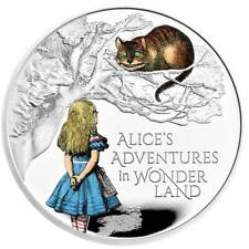 More details for alice's adventures in wonderland 2021 £2 united kingdom 1oz silver proof coin