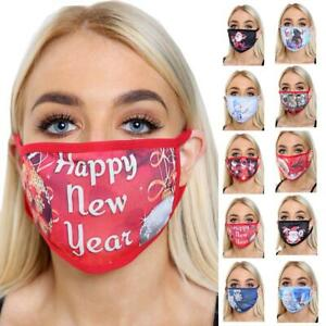 Fashion Face Mask Christmas Festive Reusable Washable Adult  Mouth Covering