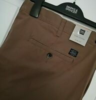 MENS M&S SIZES 42 OR 44 WAIST SLIM FIT PURE COTTON CHINO TROUSERS FREE POST