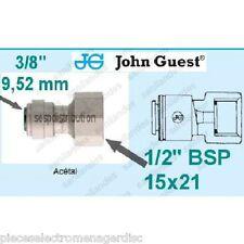 "Raccord JOHN GUEST F1/2"" 15x21 portée plate pour tube 3/8"" 9,52 mm PI451214FS"
