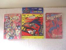 """Vintage Bundled Lot Of 3 Items """" NOS """" 1995 Marvel Valentines Cards,Batman 1992"""