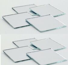 Lot of 8 ~Glass Mirror Square  2 inches  Craft and Home Decor