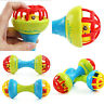 Baby Safe Silicone Rattles Bells Shaking Dumbbell Toy Bell Ball Baby Teethe J SE