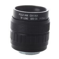 35mm F1.7 C Mount CCTV Lens Black for M4/3 Camera Olympus PEN E-PL5 E-PM3 S A1R2